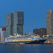 Panorama van de Rotterdamse skyline
