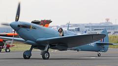 PL983 SUPERMARINE SPITFIRE NEWCASTLE AIRPORT (toowoomba surfer) Tags: warbird raf aeroplane aviation aircraft ncl egnt