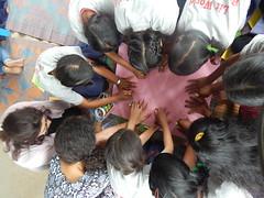 Litclub member engaged to make a hand circle (rukmini_foundation) Tags: herstory empowerment education girlseducation momsclub nepal globalglow communityempowerment community development