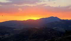 Y CAE LA TARDE EN LEOFORTE ! (Clic - Fany Romano) Tags: puesta de sol cielo agua paisaje árbol playa mar silueta bote