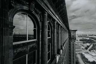 View of Detroit from the top floor of Michigan Central Station (Explored)