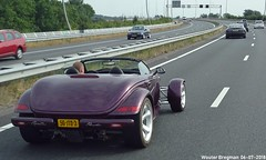 Plymouth Prowler 1999 (XBXG) Tags: 56jtd3 plymouth prowler 1999 plymouthprowler purple v6 cabriolet cabrio convertible retro roadster tourer a5 westrandweg amsterdam nederland holland netherlands paysbas youngtimer old classic american car auto automobile voiture ancienne américaine us usa vehicle outdoor