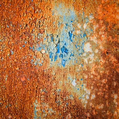 rust i (markhortonphotography) Tags: paint blue abandoned flake rust abstract iron weathered storage gate military meterbox orange layers