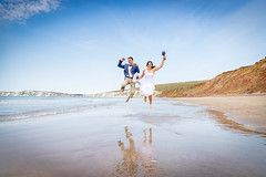 Wedding Shoot, Compton Beach, Isle of Wight - IMG_9642 (s0ulsurfing) Tags: beach beauty in nature coastline colour image compton bay isle wight couple relationship happiness holding hands honeymoon of love emotion married outdoors people photography reflection romance sea summer two uk vertical wedding dress young