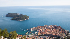 Dubrovnik Old Town aerial view (HansPermana) Tags: dubrovnik croatia kroatien hrvatska port hafenstadt hafen adriaticsea sea water got gameofthrones eu europe europa spring 2018 april