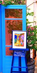 COLLIOURE STREET PAINTING (patrick555666751 THANKS FOR 5 000 000 VIEWS) Tags: collioure street painting bleu bla blau blue azzuro via rue calle peinture cotlliure roussillon rossello catalogne catalunya catalonia pyrenees orientales mediterranee mediterranean mediterraneo cote vermeille france europe europa pays catalan paisos catalans