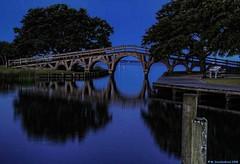 The Whalehead Bridge at Blue Hour, Historic Corolla Park OBX (PhotosToArtByMike) Tags: whaleheadbridge historiccorollapark earlymorning light corollanorthcarolina outerbanks obx whaleheadclubwoodenbridge sanddunes northcarolina corollapark atlanticocean nc museum outerbanksnorthcarolina curritucksound woodenbridge