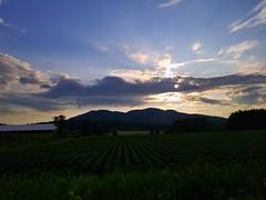 Sunset Mountain (heaswift01) Tags: mountain landscape sunset evening fields nature