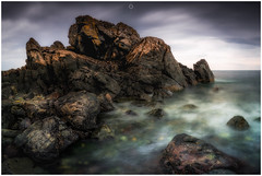 Rocky Challenge (Augmented Reality Images (Getty Contributor)) Tags: nisifilters aberdeenshire benro canon clouds horizon landscape longexposure portsoy rocks scotland seascape storm water waves