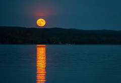 Full Moon Fever (T P Mann Photography) Tags: fullmoon reflections night lake sea landscape moonrise nature rural serenity canon eos digital tamron ngc