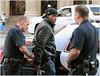 Tyrone Burton (esposasmadrid) Tags: candid jeans hat exclusive jacket actor police handcuffed tyroneburton falsearrest losangeles california usa