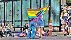 PRIVATE SHOW (panache2620) Tags: tableau pride performance attention fixated illustrative distortion perspectivedistortion minneapolis minnesota eos canon photoartistry photoartist photodocumentary art street candid 2018