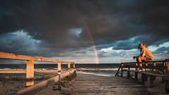 Snapshot after sunrise. (dr.rol) Tags: frankreich mimizan atlanticocean atlantic landes leslandes aquitaine strand beach plage sunrise rainbow france licht light morninglight regenbogen