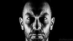 Symmetry (#Weybridge Photographer) Tags: adobe lightroom canon eos dslr slr 5d mk ii mkii self selfie portrait monochrome symmetry symmetrical black background