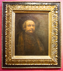Selfie of Rembrandt (Hans van der Boom) Tags: holiday vacation europe italy firenze florence uffizi museum art selfie portrait rembrandt tuscany it