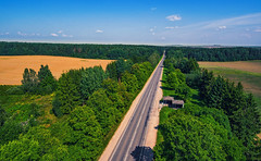 Forest Road (free3yourmind) Tags: forest road coutry countryside middle aerial quadcopter xiaomi mi drone minsk belarus