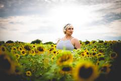 Peekaboo! (joshhansenmillenium) Tags: canon6d canon 6d photography 50mm bokeh modeling portrait sunset sunflowers cottell park cottellpark august summer sunsets clouds landscape film edit ohio bw black white