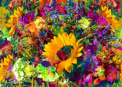 Flower Festival (brillianthues) Tags: bouquet sunflowers flowers floral nature garden colorful collage photography photmanuplation photoshop