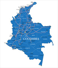 31009796_ml (mghresearchinstitute) Tags: colombia southamerica americas bogota medellin barranquilla cordoba cartagena cucuta tumaco amazonas continent map geography cartography illustration silhouette border travel destination city country road background outline