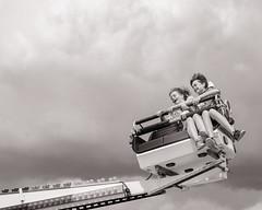 All the fun of the Fair 2 (raymorgan4) Tags: fairground attraction rides fair fun laughter thrill seekers happy friends danger flying high fujifilm fujifilmx100f fujifilmglobal cardiff bay beach