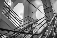 Stairs And Lines And Arches (Modkuse) Tags: monochrome bw blackandwhite arches architecture nikon nikondslr nikond100 d100