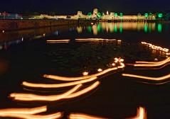 Angkor Wat and trailing lanterns