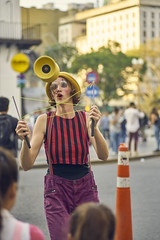 Action (Martin H.E) Tags: sony a7r2 90mm tamron buenos aires portrait retrato amateur photo alpha clown woman colors colores argentina art street pic