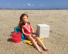The good life (Foxy Belle) Tags: licca doll vacation beach holiday summer sun sand nina ballerina skipper swimsuit 1975