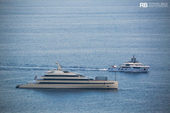 Savannah - 84m - Feadship & Ocean Dreamwalker III - 47m - Sanlorenzo (Raphaël Belly Photography) Tags: rb raphaël monaco raphael belly photographie photography yacht boat bateau superyacht my yachts ship ships vessel vessels sea motor mer m meters meter savannah feadship 84m 94 gris grigrio grey green vert verde imo 1012517 mmsi 538071192 47m 47 sanlorenzo ocean dreamwalker iii 3 blue bleu bleue turquoise white blanc blanche bianca bianco 9840087 319144200