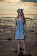 Beach Sunset Shoot July 2018-4 (Philip Gillespie) Tags: edinburgh scotland gullane beach sunset sun evening models girls women posing sand sea sky clouds silhouette blond young amateur powder smoke lights soft guns umbrellas flash beautiful lovely canon 5dsr outdoors outside nature natural pose hair hands feet legs arms face head fashion dress shorts trousers skirts hats cave orange red blue green yellow fill dark night rocks coast coastline warm shore seaweed