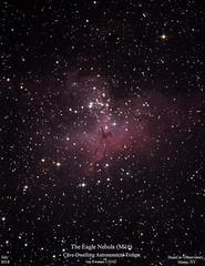 M16_July2018_HomCavObservatory_ReSizedDownTo2xHD (homcavobservatory) Tags: homcav observatory eagle nebula messier m16 emission open star cluster serpens 8inch f7 criterion newtonian reflector canon 700d t5i dslr losmandy g11 mount 80mm celestron shorttube refractor zwo asi290mc planetary camera autoguider gemini 2 control system phd2