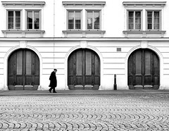 Old Man Walking (CoolMcFlash) Tags: old man person walking street streetphotography vienna bw candid bnw blackandwhite blackwhite facade building window canon eos 60d coat alt mann gehen strase wien sw schwarzweis gebäude fassade fenster fotografie photography alone alleine sigma 1020mm 35
