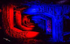 RED vs BLUE (Photosplus _ XP) Tags: red vs blue rouge bleu urbex urban exploration maxime photos plus lightpainting lflp lpwa olympus graff graffs tag tags night photography photographie light lumière luz nuit noche azul rojo color colors couleur couleurs chaud froid hot cold caliente frío infinitexposure longexposure long exposure max pateau photosplus