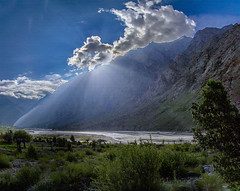 . (Rambonp:loves all creatures of this universe.) Tags: leh laddakh lake mountains highway sky clouds blue green grey brown light day rivers wallpaper paradise india landscape canon trees nature jk himalyas sun karakoram silkroute sangam pangonglake changlapass nubrovalley