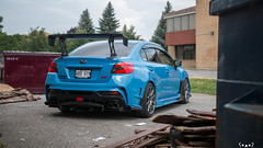 IMG_2314 (PedoJim) Tags: subaru wrx sti varis blue ivy nextmod turbo ej25 wing racecar lachute quebec montreal brembro bakemono track car