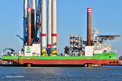 Sea Installer @ Ostend 2018 (Aviation and more) Tags: seainstaller vessel ship boat port ostend oostende northsea water sky clouds green blue marine shipspotting imo9646481 mmsi219456000 denmark windmill windenergy windturbine windenergie zee noordzee