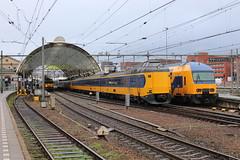2017-12-09; 0059. 1741 met DDZ-4-7541 als trein 5648, ICM-3-4019 en ICM-3-4095 als trein 642, DDZ-4-7533 opgesteld. Zwolle. Laatste dag DM 90 Buffels (Martin Geldermans; treinen, Züge, trains) Tags: zwolle dm90 buffel trein train zug nederlandsespoorwegen ns kamperlijntje kampen icm ddz