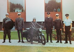 Police - Germany - Erik Kessels' Models, German police uniform collection 5 - swap - Monique Lafontaine (a_garvey) Tags: postcard postcrossing erikkessels people police germany uniform