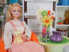 Bean bag barbie hippie (modcasey) Tags: barbie hippie dolls for photo challenge divas theme