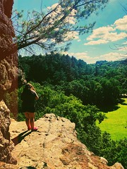 We've got miles left to go (Meg4nnn) Tags: scenery landscape view height heights climbing climb rock cliff sunshine sun friendship walking walk forest woods trail hiking hike roadtrip adventure explore afterlight iphone8plus iphonephoto 2018 summer july southernwisconsin wisconsin