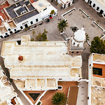 Bird eyel view of a Spanish church thumbnail