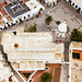 Bird eyel view of a Spanish church