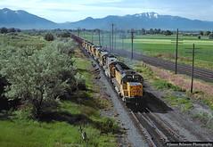 Lakota Crossing (jamesbelmont) Tags: provo orem utah lakota crossing railroad railway unionpacific coal emd sd402 ge c307 riogrande drgw rural garm agriculture valley loafermountain maplemountain
