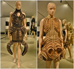 Mummification, Transforming Fashion, Designing the Impossible by Iris Van Herpen, Royal Ontario Museum, Toronto, ON (Snuffy) Tags: mummification transformingfashion designingtheimpossible irisvanherpen royalontariomuseum rom toronto ontario canada autofocus