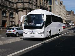 Ratho Coaches of Newbridge Scania K360IB4 Irizar i6 YN15ELO at George IV Bridge, Edinburgh, on 27 July 2018. (Robin Dickson 1) Tags: busesedinburgh rathocoachesofnewbridge irizari6 scaniak360ib4 yn15elo