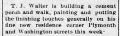 1911 - TJ Walter completes 130 E Plymouth - Enquirer - 11 May 1911