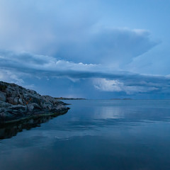 Thunder cloud (AESTRACT) Tags: seacoast water evening rain clouds sweden baltic stanna