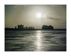 Belém, Lisboa (Sr. Cordeiro) Tags: belém lisboa lisbon portugal rio tejo tagus river sol sun paquete boat barco fábricas factories reflexo reflex panasonic lumix lf1