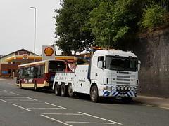 """Inland Lift."" East Yorkshire YX56 DZL ( 273 ) Behind Scania P6  JPR (munden.chris) Tags: eastyorkshire finglands alexanderdennis adl stoneywood p6jpr yx56dzl enviro 300 scarboroughanddistrict"