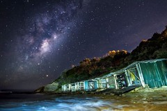 The boatsheds (joshjones776) Tags: core milkyway dream mystical seascape landscape longexposure nightphotography nikon sky galactic stars astronomy australia nsw bulli sandonpoint boatsheds beach